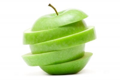 green apple cut